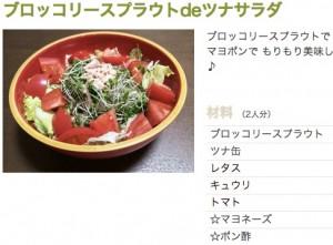 ブロッコリースプラウトdeツナサラダ