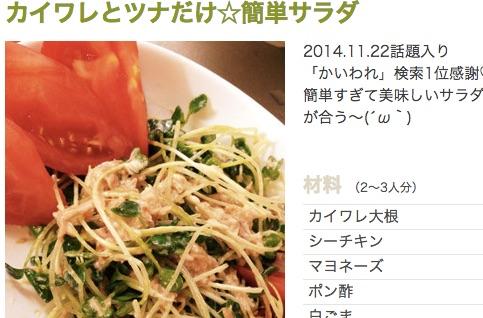 カイワレとツナだけ☆簡単サラダ