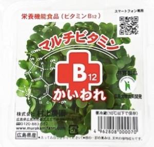 野菜の栄養機能食品、マルチビタミンB12かいわれ