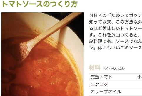 トマトソースのつくり方
