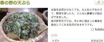 春の野の天ぷら