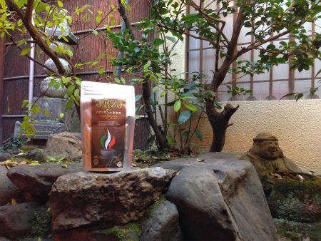 オルゾと京町家の中庭