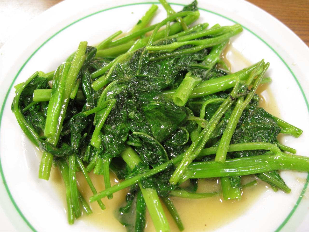 空芯菜(ようさい)の栄養とおすすめレシピ、食品成分表