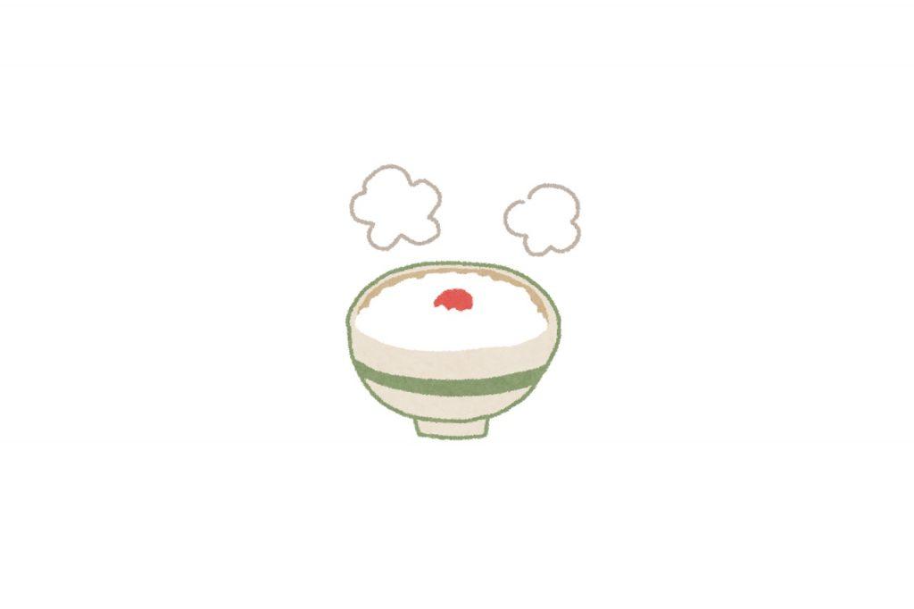 おかゆ(全粥)の栄養とおすすめレシピ、食品成分表