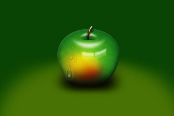 青いリンゴの画像