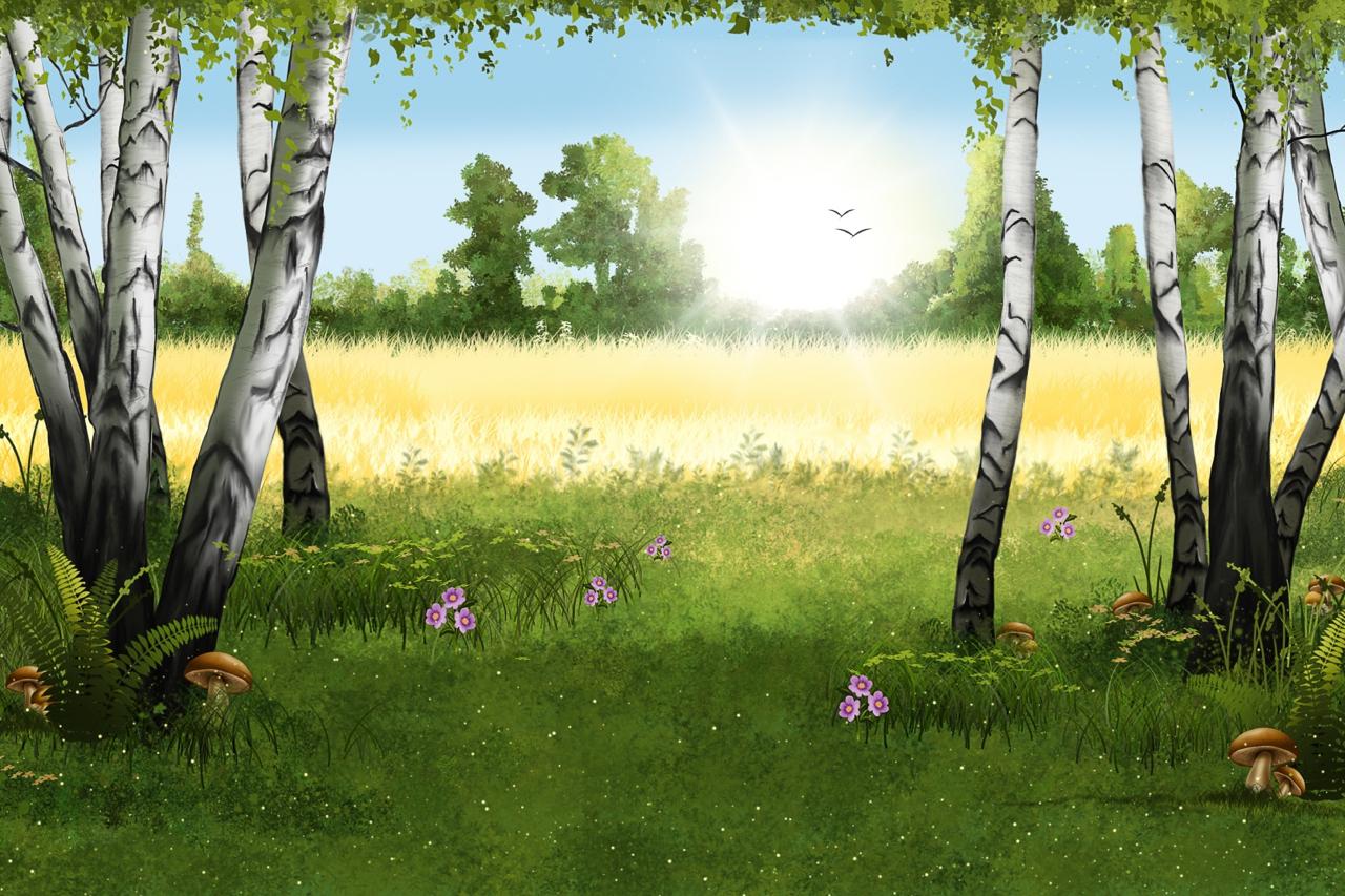 キノコのある風景