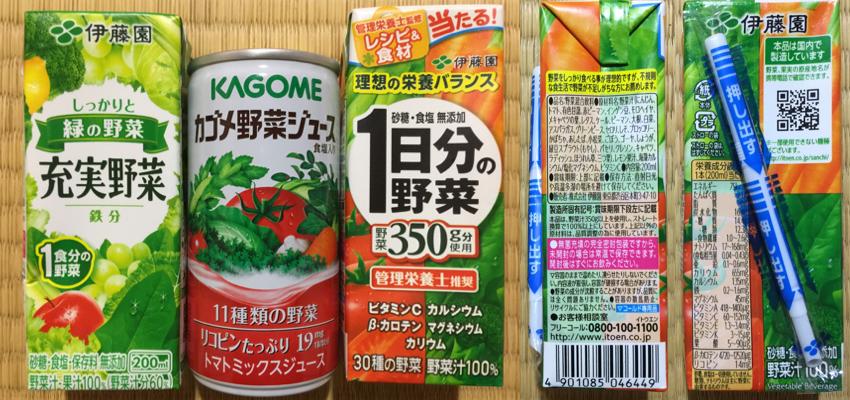 野菜ジュースの栄養成分